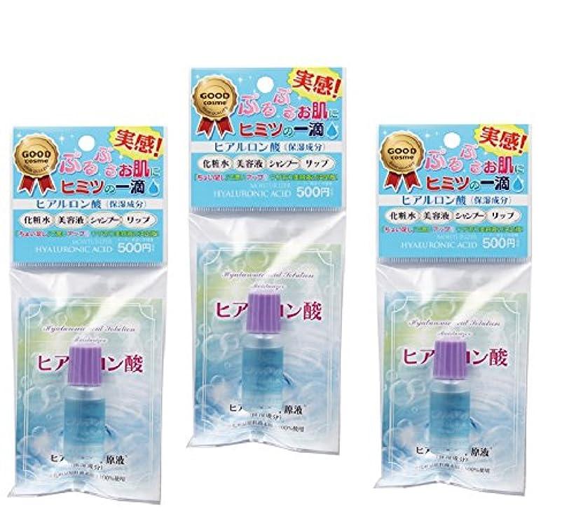 ドレイン残り物同種のヒアルロン酸水溶液 10ml 3個セット 訳あり パッケージ汚れ