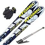 スキー4点セット ATOMIC 2015 PERFORMER FIBER 165cm EZYTRAK 10 ストック120cm メンズグローブ ワクシング施工
