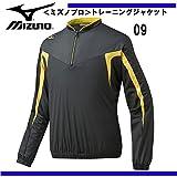 MIZUNO(ミズノ) トレーニングジャケット/長袖 ハーフジップ (12je5j84) 09ブラック×ゴールド O