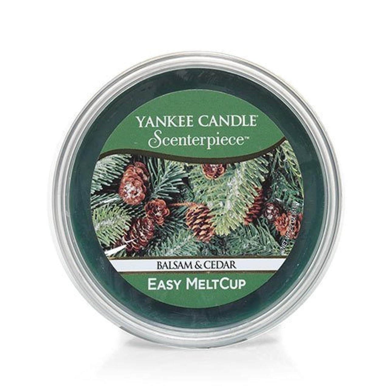 法律頭痛敬意(ヤンキーキャンドル) Yankee Candle ラージ 22オンス ジャーキャンドル バルサム&シダー Scenterpiece Easy MeltCups 1316938-YC