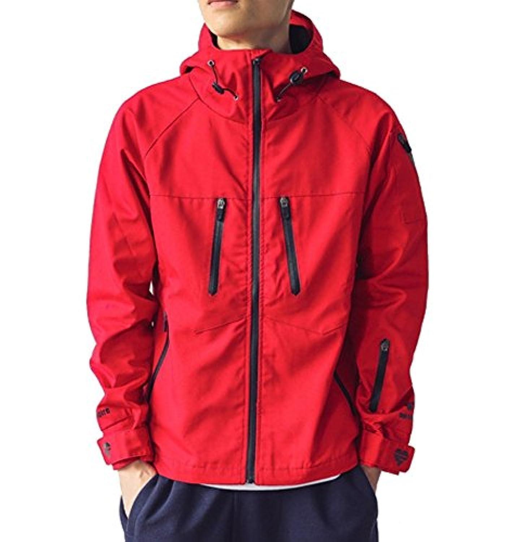 (ティーエヌケーカンパニー)Tnk&Co. メンズ (3色選択) ジップアップ マウンテン パーカー ジャケット #1406 レッド ブルー ブラック 赤 青 黒