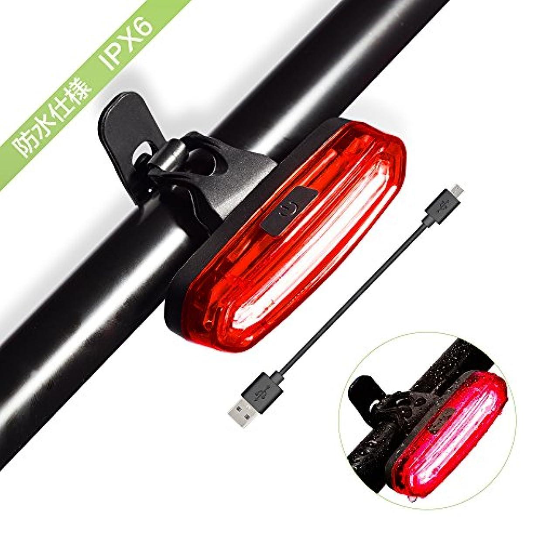 メイエラ依存素朴なAURTEC 自転車テールライト LED高輝度 USB充電式 防水防塵 セーフティライト 三色6種点灯モード リア用