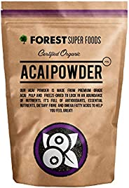 Forest Super Foods Certified Organic Acai Powder Freeze Dried 200g (60 day supply) Nothing added. Premium qual