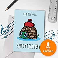 Get Betterカードwith Recordable音楽| Speedyリカバリカード、Singingグリーティングカード、Get Well Soonカード00103 120sec Recordable