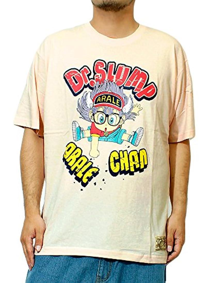 知覚的試してみる治すDr.スランプ アラレちゃん Tシャツ メンズ 大きいサイズ ドクタースランプ キャラクター 総柄 プリント 半袖 カットソー