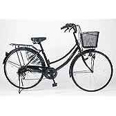 21Technology 26インチ自転車ママチャリ MC266 シマノ製6段ギア付き (ブラック)
