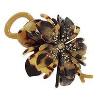 haclm574nndbr ヘアアクセサリー 髪飾り (リトルムーン) Marble Marble クリップ ベルナデット ダークブラウン