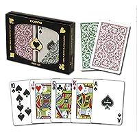 COPAG(コパッグ) 1546 プラスチックトランプ グリーン/バーガンディ ポーカーサイズ レギュラーインデックス