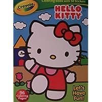 Hello Kitty Crayolaカラーリングブックwithステッカー~ Let 's Have Fun 。( 2013 )