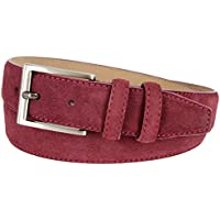 "Granada Men's 100% Suede Nubuck Leather Dress Belt 1-3/8"" Wide"