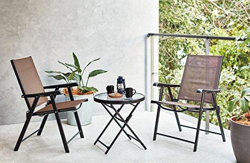 ガーデン テーブル チェア 3点セット ガラステーブル アウトドア 屋外 テラス 折りたたみ 軽量 ...