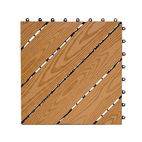 アールケイプラニング『ウッドデッキタイル デザインタイプ 15枚セット』