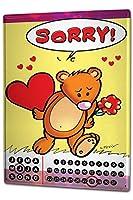 カレンダー Perpetual Calendar Fun FeliX Sorry Bear Tin Metal Magnetic