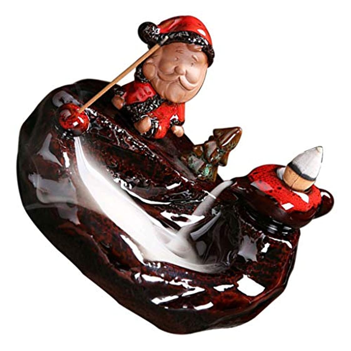 追う利得報酬のPETSOLA 香炉 クリスマステマ 中国 伝統的 手作り ヴィンテージ パープルクレイ - D
