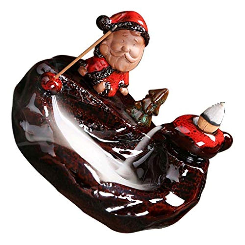 リーダーシップジャンプする大邸宅PETSOLA 香炉 クリスマステマ 中国 伝統的 手作り ヴィンテージ パープルクレイ - D