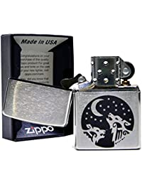 ジッポ ホピ族 ウルフ 狼 オオカミ 刻印 ZIPPO #200 クロームサテーナ 強さと勇敢な心の象徴