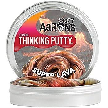 【 光加減で色の見え方が変わる!シリコン製パティ 】 Crazy Aaron's Putty World シンキングパティ Super Illusions シリーズ EU安全規格適合 内容量90g レギュラーサイズ Made in USA 日本正規代理店品 【 スーパー・ラヴァ 】 SL020