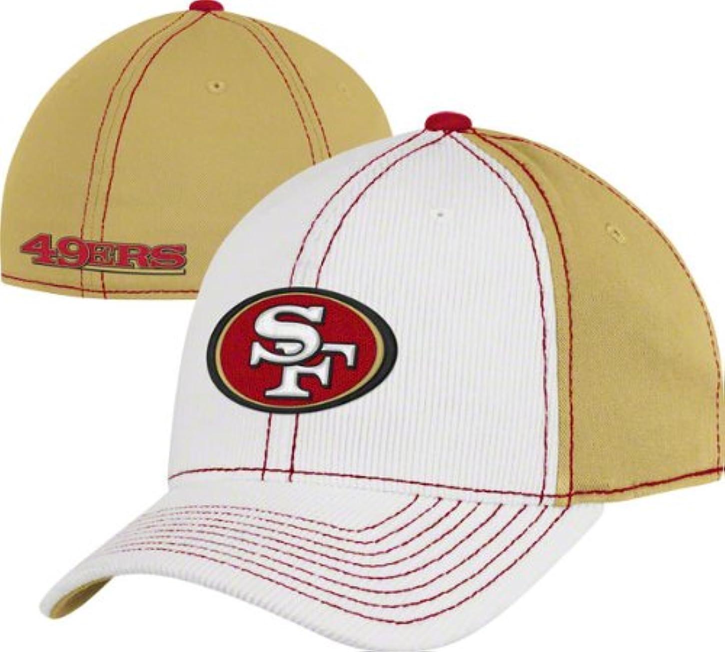 コーナーはず恐竜San Francisco 49ersコーデュロイStructured Flexリーボック帽子サイズS / M