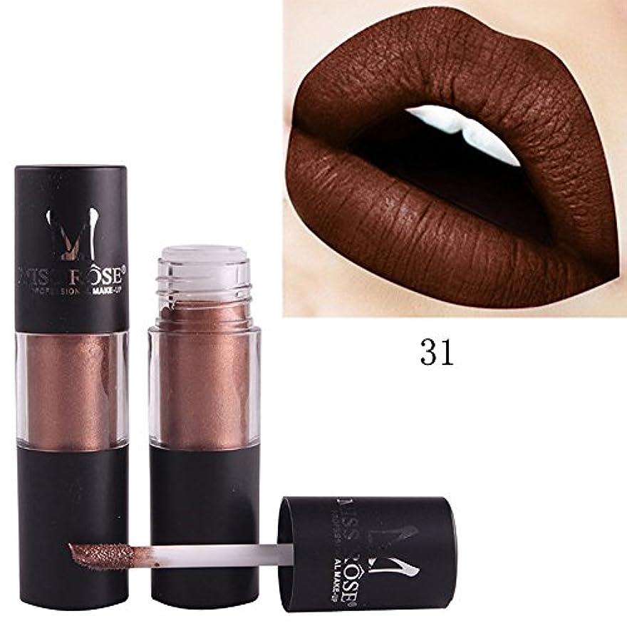 ほこりっぽい施設風刺口紅 リップグレーズ 液体 リップバーム メタリック 無光沢 リップスティック リキッド 化粧品 美容 リップクリーム つや消し メイク 唇に塗っっていつもよりセクシー魅力を与えるルージュhuajuan (G)