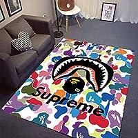 YETUGE-X 絨毯カーペット 長方形 四角 短足 幾何 洗える おしゃれ ラグカーペット 北欧 オールシーズン リビングラグ シンプル