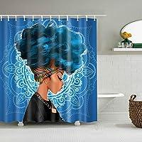 浴室のシャワーカーテン型防水防水シアーパネルの装飾シャワーの仕切りスカーフ風呂カーテン+ 12カーテンフックリングセット180×180センチ,beautyavatar3