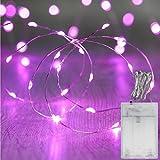 MANATSULIFE-sxl0014-18 イルミネーション LED ライト 電飾 電池 式 クリスマス ツリー 飾り (2M(20LED), ピンク)