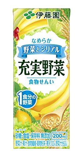 充実野菜 シリアルミックス(野菜とシリアル) 紙パック 200ml ×24本