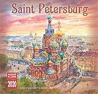 ロシア カレンダー 2020年度版 「サンクトペテルブルク」 (サンクトペテルブルグ アクリル風景画(29㎝ × 29㎝))