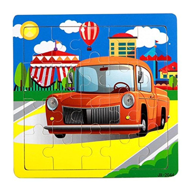 Fineser ( TM )木製クラシックカーパズル教育Developmental Baby子供用トレーニングおもちゃ