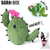 BarkBox Interactive 2-in-1 Stuffed Plush Squeaky Dog Toy for Small/Medium/Large Dogs (Consuela The Cactus, Medium/Large Dog)