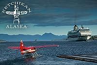 ケチカン、アラスカ–Float平面とクルーズ船 24 x 36 Giclee Print LANT-48300-24x36