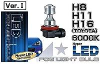 JUPITER JLB-HLH08KW ハイパーLEDフォグライトバルブ H8 H11 H16 6000k