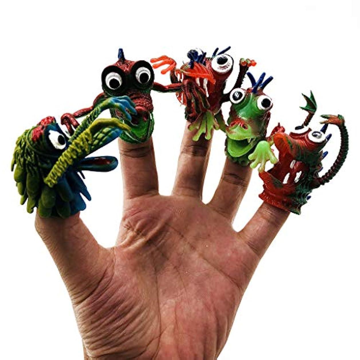 アリスビジター異常GOOD lask おかしい子供の指のおもちゃ、環境に優しいポリ塩化ビニールの指セット