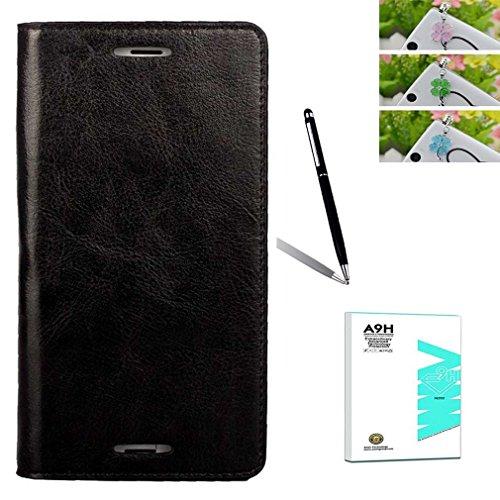 de1c52bdcd A9H Sony Xperia Z3 ケースと強化ガラスフィルムのセット 手帳型 ソニーエクスぺ