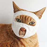 nekozuki めだしマスク ベージュ S 猫 点眼補助