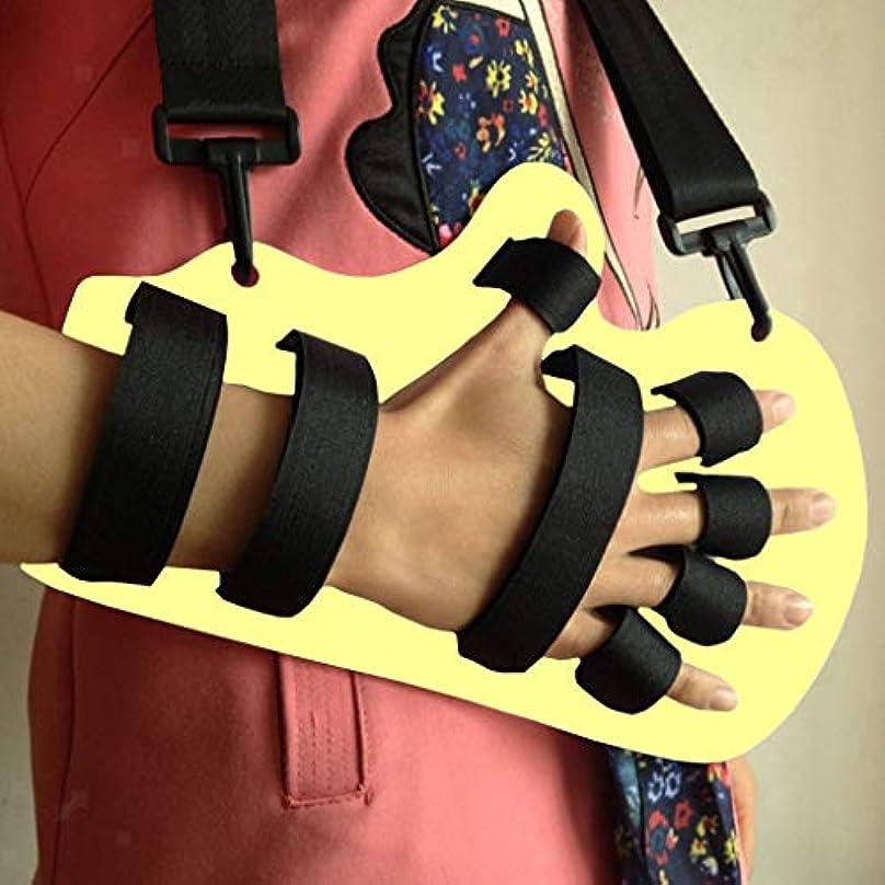 浴室聴覚障害者うまくやる()副子指板訓練装置、調節可能な指装具、脳卒中片麻痺のための指リハビリテーション固定ストレート,B