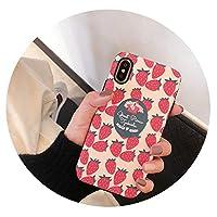 超可愛い携帯ケースiPhoneのために6s/7p/8p/x/xr/xsmax女のストロベリー携帯ケース レディース落下保護ソフトケース,6/6s-iPhoneのために