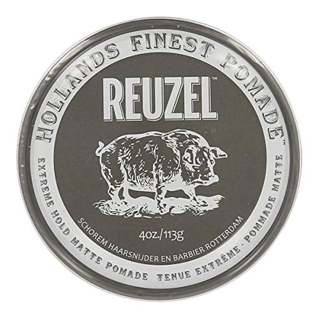 錫優雅な良いルーゾー Reuzel Extreme Hold Matte Pomade 113 g [並行輸入品]