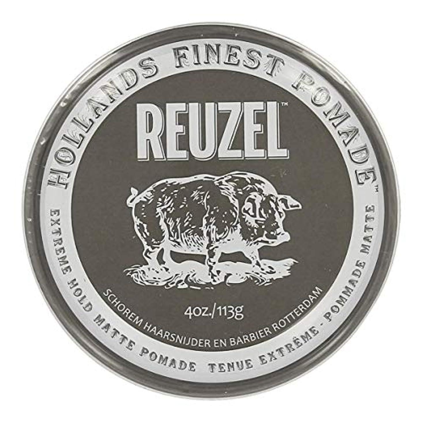 接続されたつまずく一貫性のないルーゾー Reuzel Extreme Hold Matte Pomade 113 g [並行輸入品]