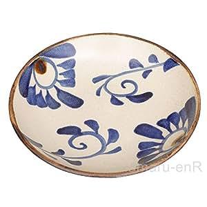 やちむん(沖縄陶器) チャンプルー皿 菊紋   大皿 7寸皿 カレー皿 パスタ皿 中城窯