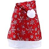 サンタハット ホリデークリスマスハット パーティーハット シルバー 雪の結晶 大人と子供用
