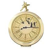 12/1? ピーターパン コンパクト 式 ミラー 鏡 時計型 アンティーク ディズニー ティンカーベル 他 メイク 用品 ( ディズニーランド限定 )