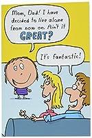 ライブAlone FD父の日ジョーク用紙カード 1 Father's Day Card & Envelope (SKU:0340)