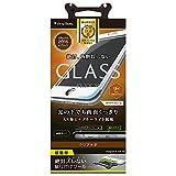Simplism iPhone7 フィルム [FLEX 3D] AR光反射低減 ブルーライト低減 立体成型フレームガラスフィルム ブラック  TR-GLIP164-F3ARBK