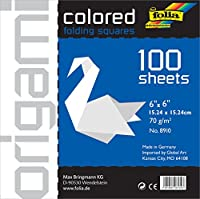 Folia Origami Paper 6-Inch-by-6-Inch White 100 Sheets by Global Art Materials