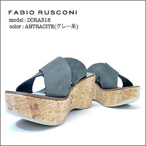 (ファビオルスコーニ)FABIO RUSCONI コルク ウェッジソール ミュール DORA318-35-ANTRACITE