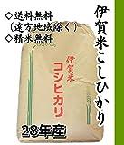 【精米無料・白米】三重県伊賀産こしひかり30kgを精米します/産地直送/つきたて新鮮 (白米)