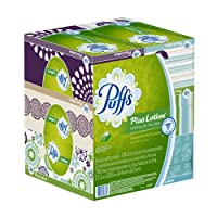 Puffs Plus Lotion Facial Tissues; 6 Family Boxes; 124 Tissues per Box by Puffs