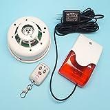 喫煙検知センサー 無線通報アラーム 親機と子機のセット 停止スイッチ付 大音量タイプ