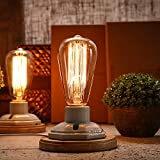 FSLiving 照明産業ヴィンテージエジソンウッドセラミックスベースソケットE26/ E27デスクライトテーブルランプホーム装飾 (セラミックスタイル)